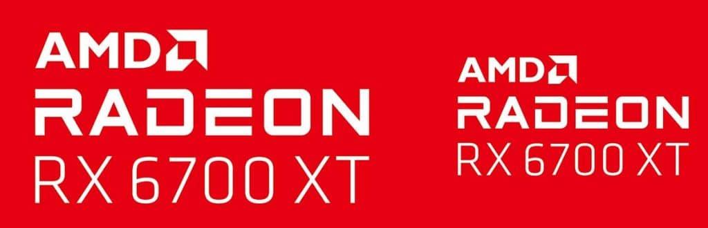 Logo AMD Radeon RX 6700 XT