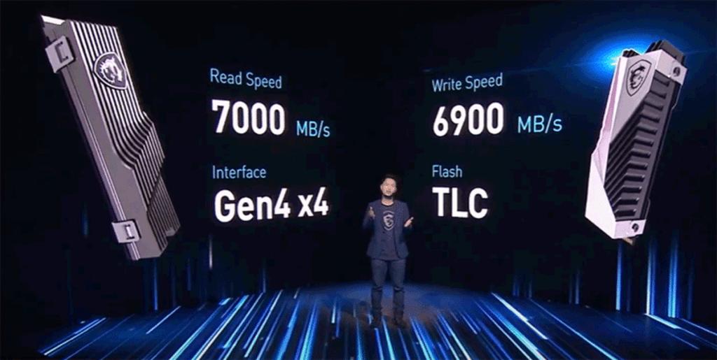 SSD MSI PCIe 4.0 7000 Mo/s