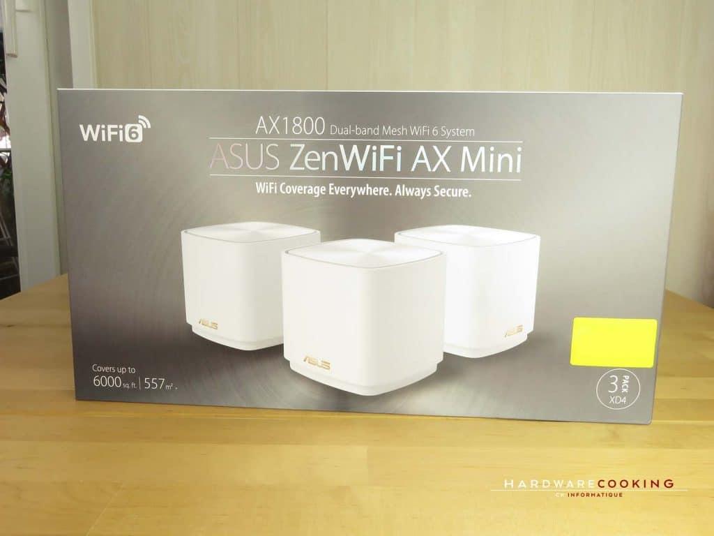 test ASUS ZenWiFi AX Mini AX1800 boîte