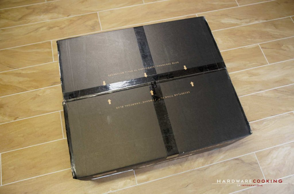 carton Secretlab Titan XL