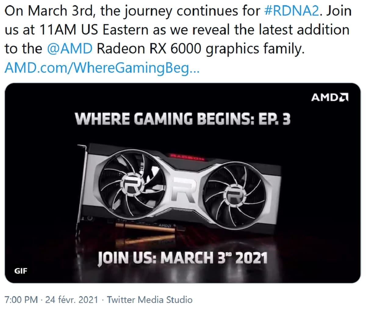 Annonce Radeon 6700 XT