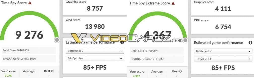 benchmark Time Spy NVIDIA RTX 3060