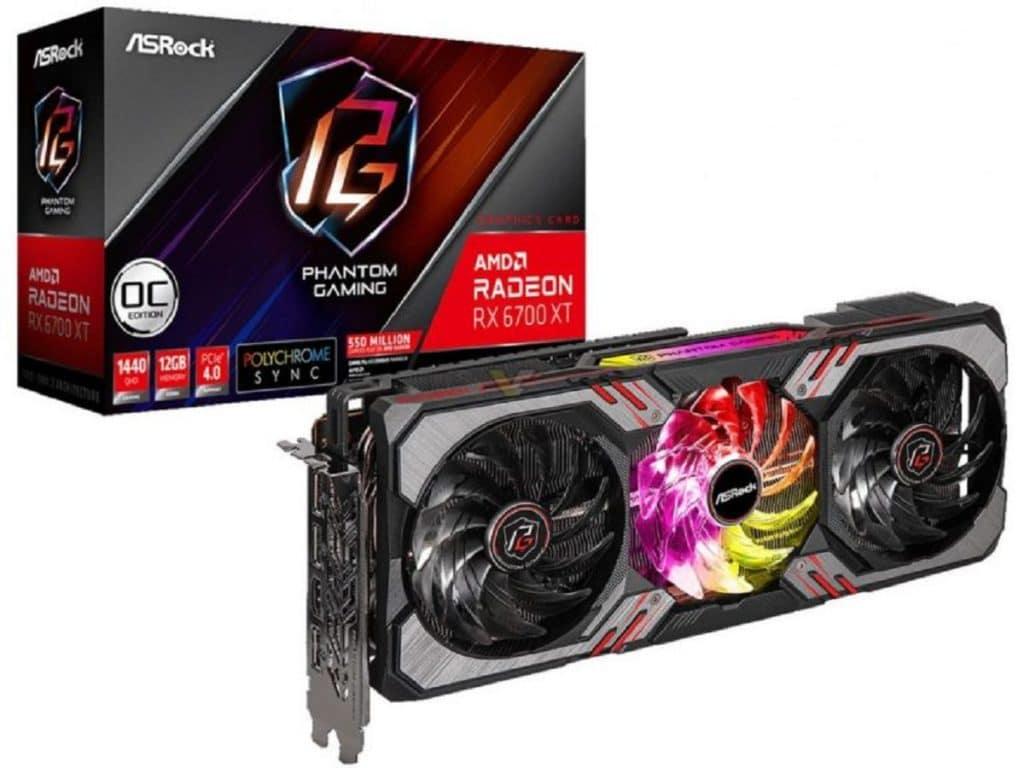 ASRock AMD Radeon RX 6700 XT Phantom Gaming D 12 Go OC