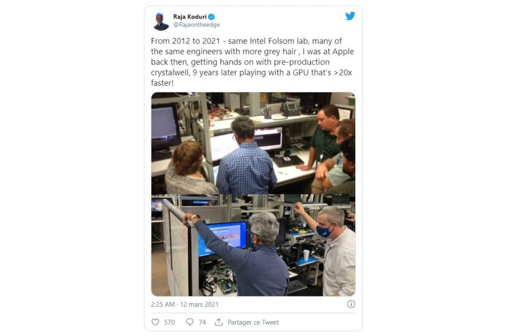 Intel Xe-HPG Tweet Raja Koduri DG2 ?