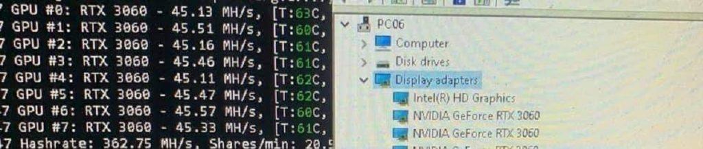 "NVIDIA GeForce RTX 3060 hashrate Ethereum ""Hast Rate Limiter"""