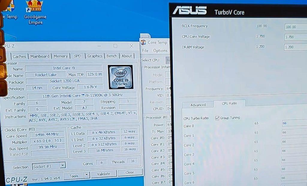 Overclocking PC Wale Intel Core i9-11900K