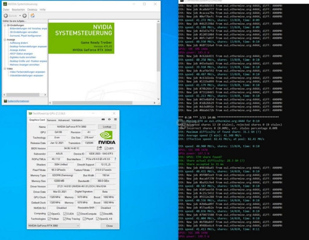 Pilote NVIDIA GeForce 470.05 supprime le hash rate limiter