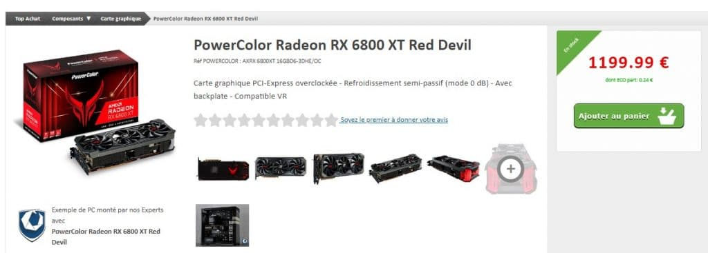 qstock PowerColor RadeoN RX 6800 XT Red Devil