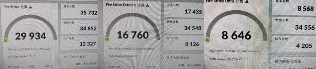 Résultats benchmarks Sapphire RADEON RX 6700 XT NITRO+