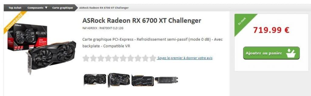 Stock ASRock RX 6700 XT Challenger