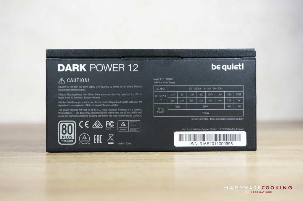 Test alimentation Be Quiet! Dark Power 12