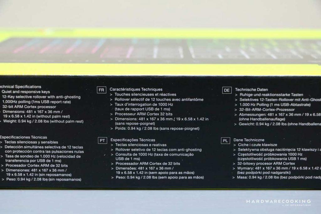 Boîte CORSAIR K55 RGB PRO XT