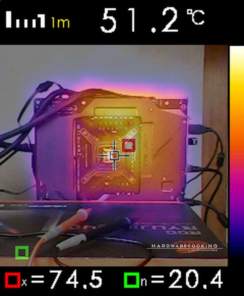 Test température VRM caméra thermique Z590 AORUS MASTER