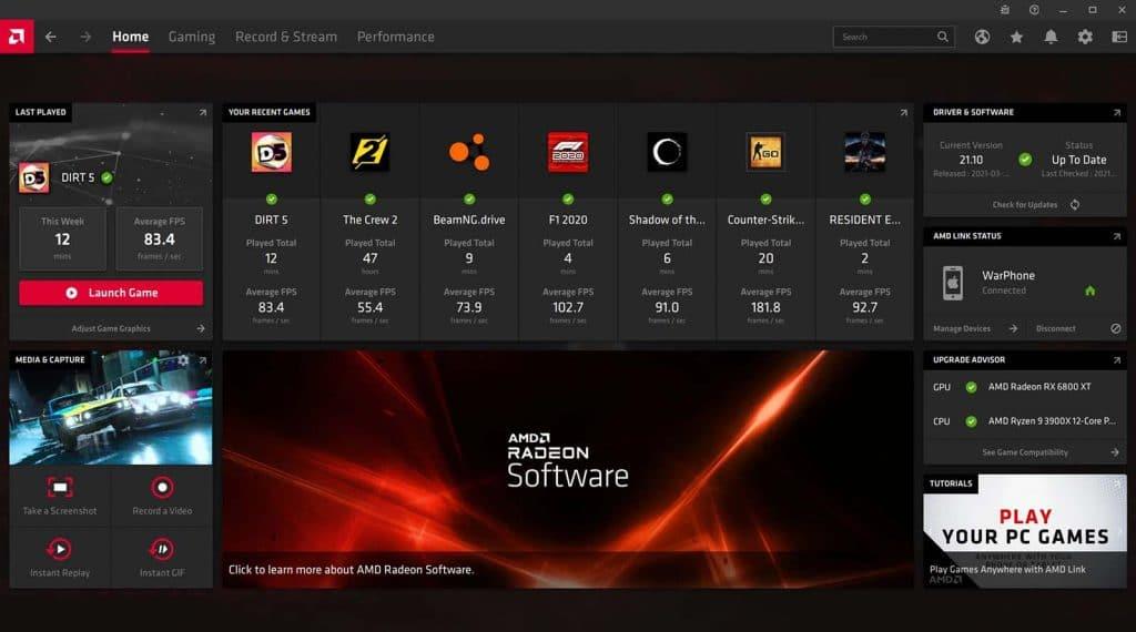 AMD Radeon Software Adrenalin 21.4.1 WHQL