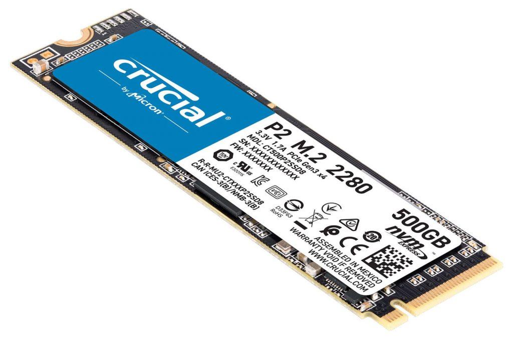 bon plan SSD Crucial P2
