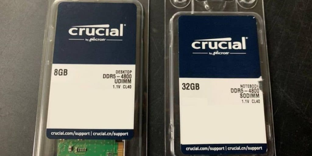 Crucial DDR5 4800 MHz CL40