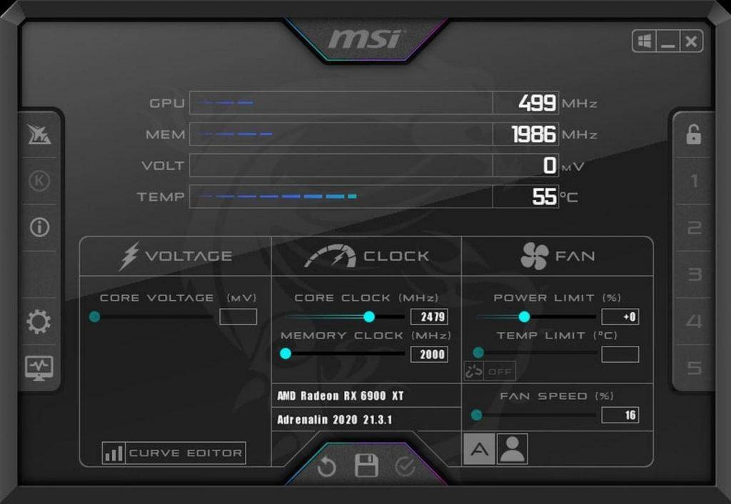 Afficher les températures et FPS en jeu avec MSI Afterburner