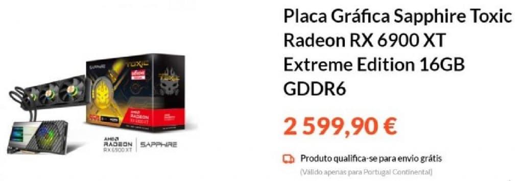 Prix PCDIGA Sapphire RX 6900 XT Toxic Extreme