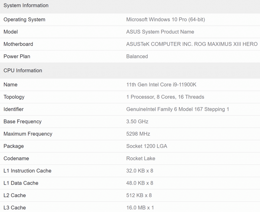 Benchmark NVIDIA RTX 3080 Ti Geekbench