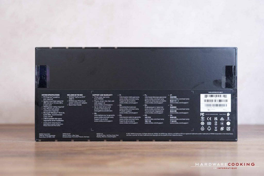 Carton NVIDIA GeForce Founders Edition