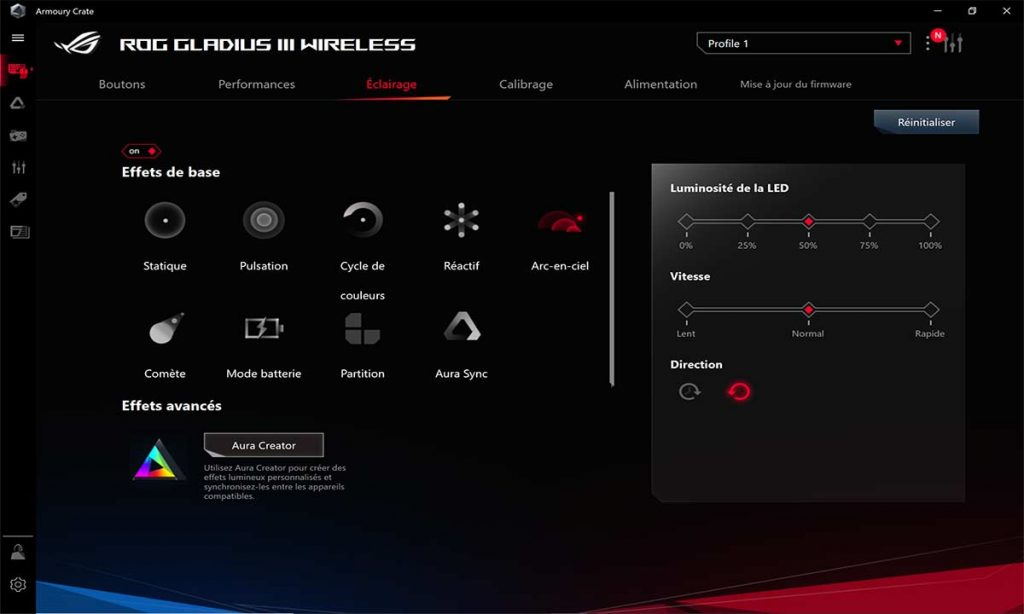 Logiciel ASUS Armoury Crate