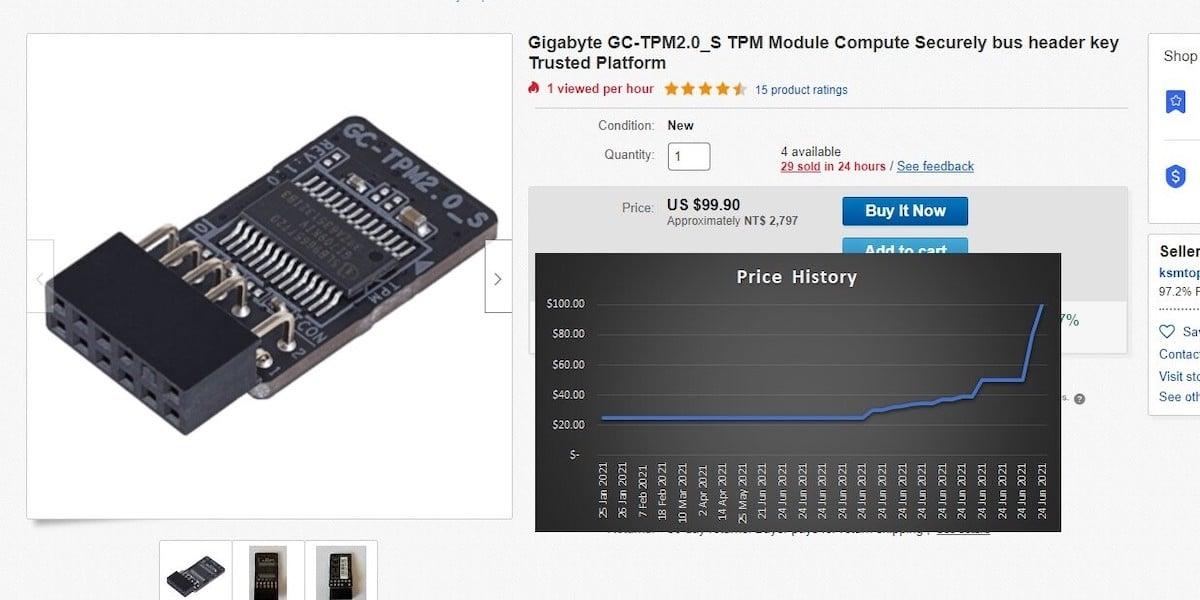 prix module TPM ebay pour Windows 11