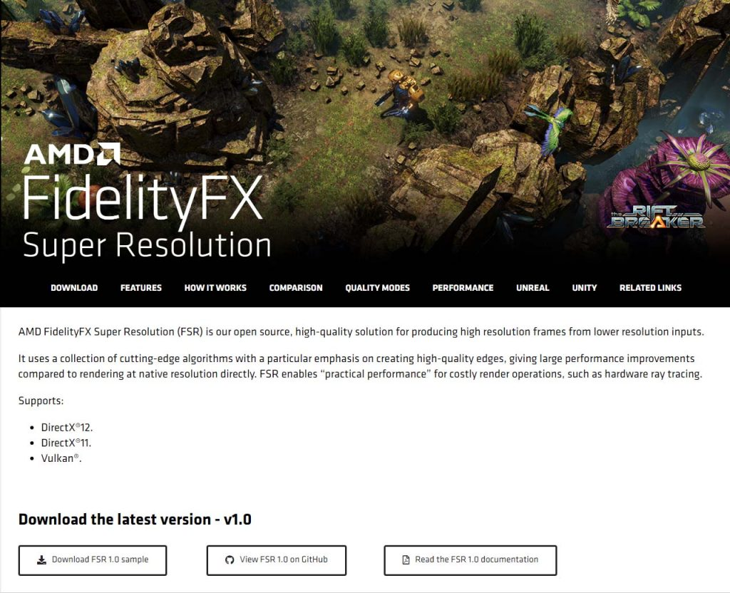 AMD FidelityFX Super Resolution Open Source