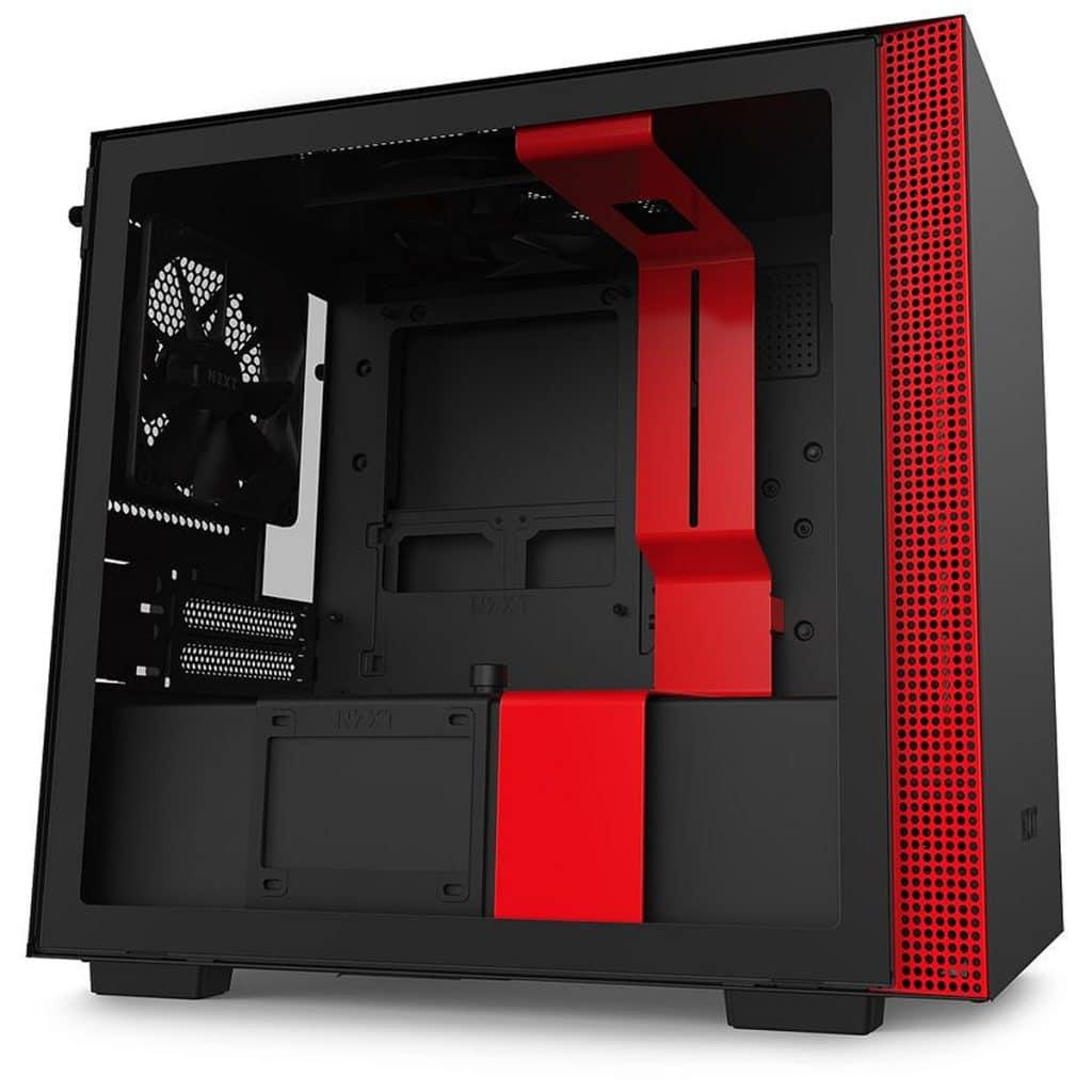 Bon plan boîtier NZXT H210 version Noir/Rouge