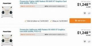 Listing prix PowerColor Radeon RX 600 XT