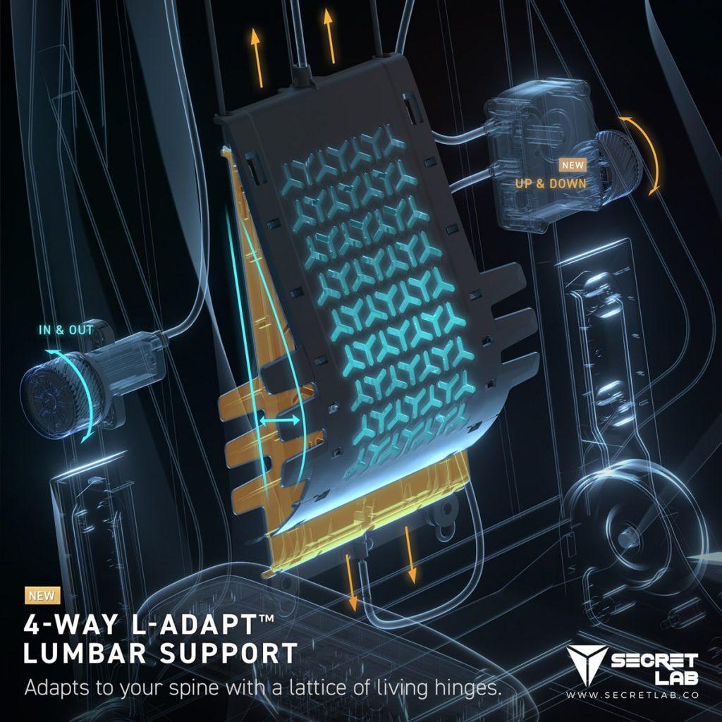 Secretlab L-ADAPT : nouveau soutien lombaire