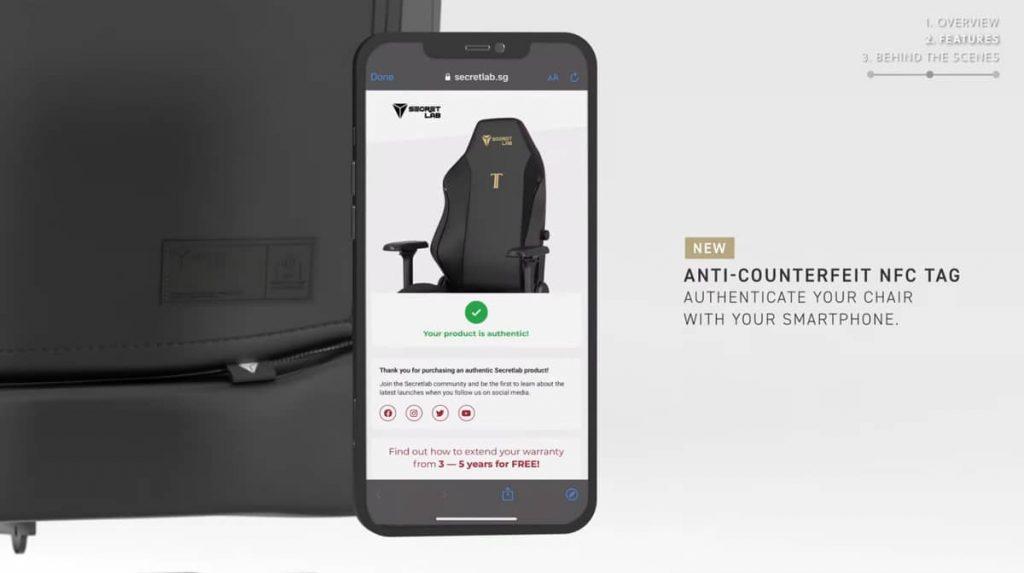 Système anti-contrefaçon Secretlab