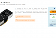 Stock NVIDIA GeForce RTX 3060 Ti FE