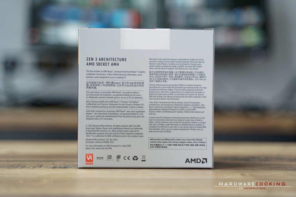 boîte AMD Ryzen 7 5700G