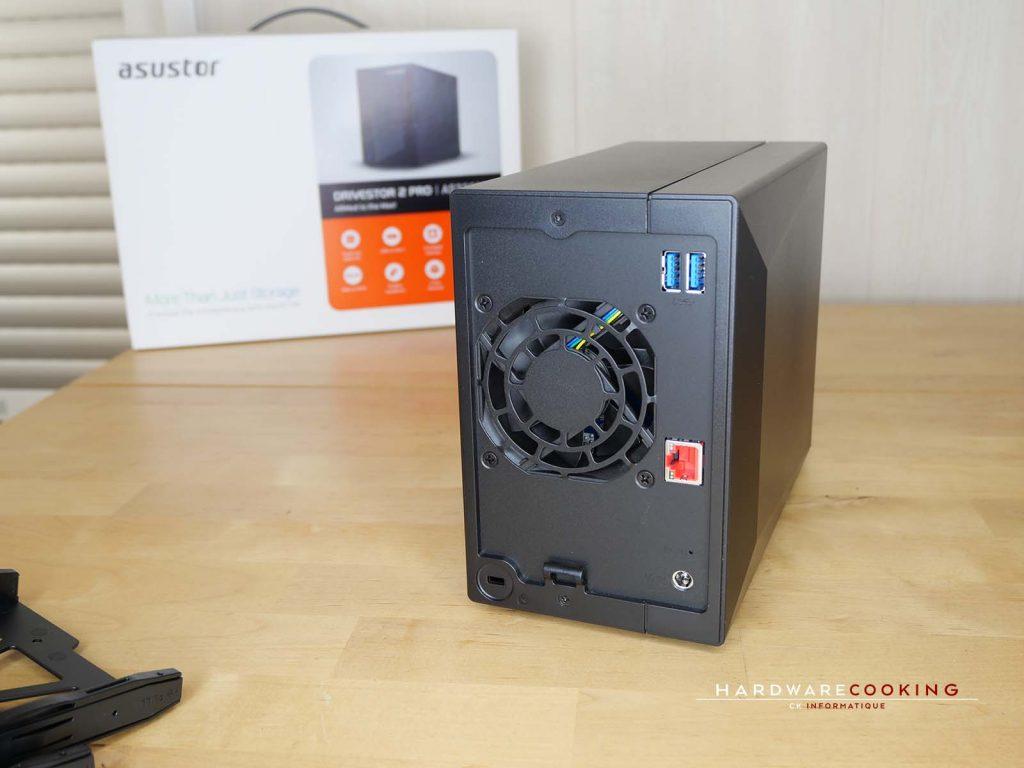 Connectique arrière Asustor Drivestor 2 Pro