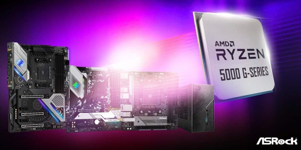 Produits ASRock AMD Ryzen 5000 G séries
