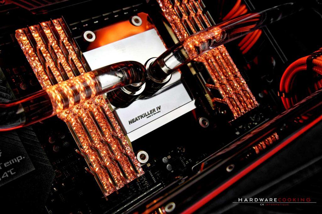 Build ROG&Roll 3 waterblock CPU Heatkiller IV PRO
