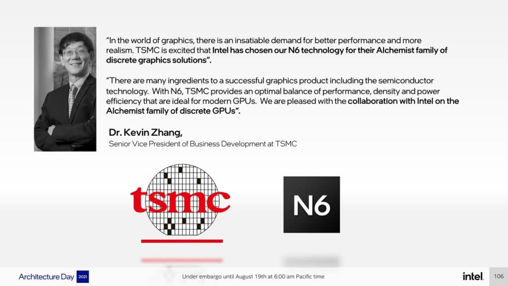 Intel DG2 Alchemist TSMC 6 nm