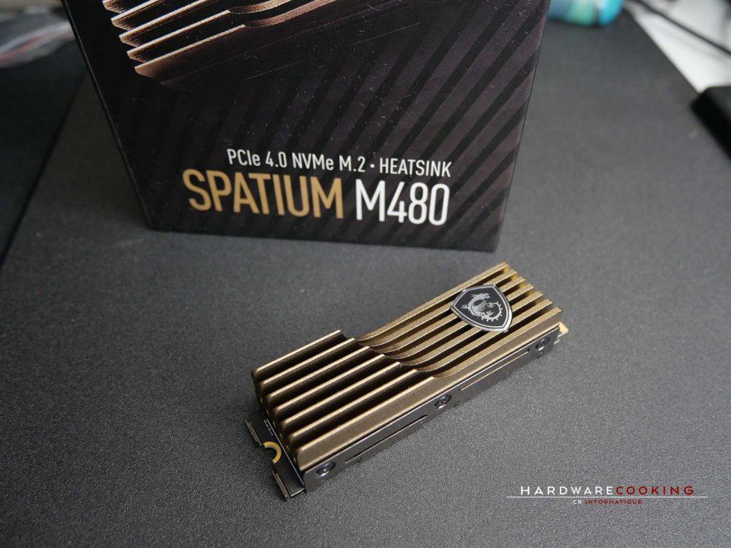 Test SSD MSI SPATIUM M480 2 To