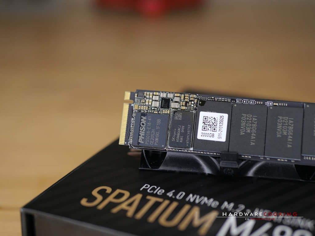 Contrôleur PCIe 4.0 x4 de deuxième génération Phison PS5018-E18 MSI SPATIUM M480