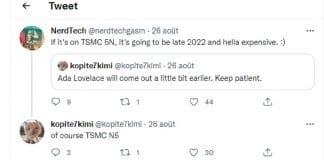 Tweet Kopite7kimi TSMC N5