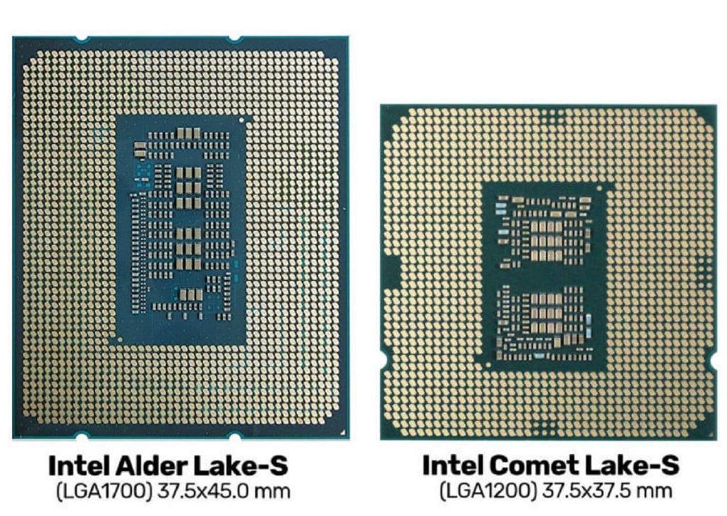 Processeur Intel Alder vs Comet Lake