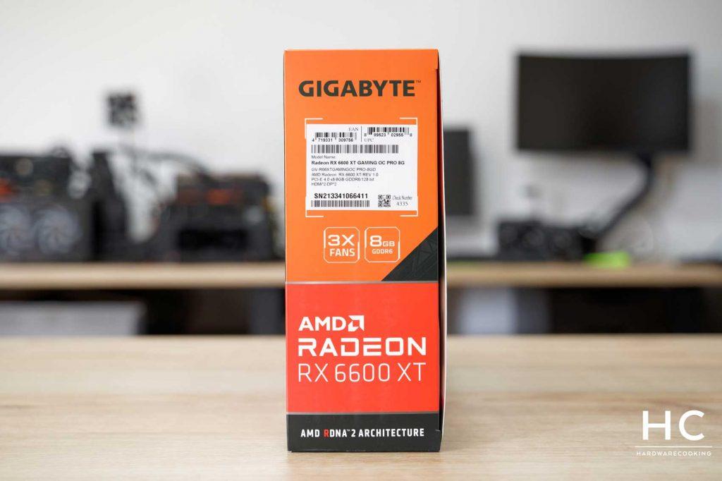 Test GIGABYTE RX 6600 XT GAMING OC PRO 8G