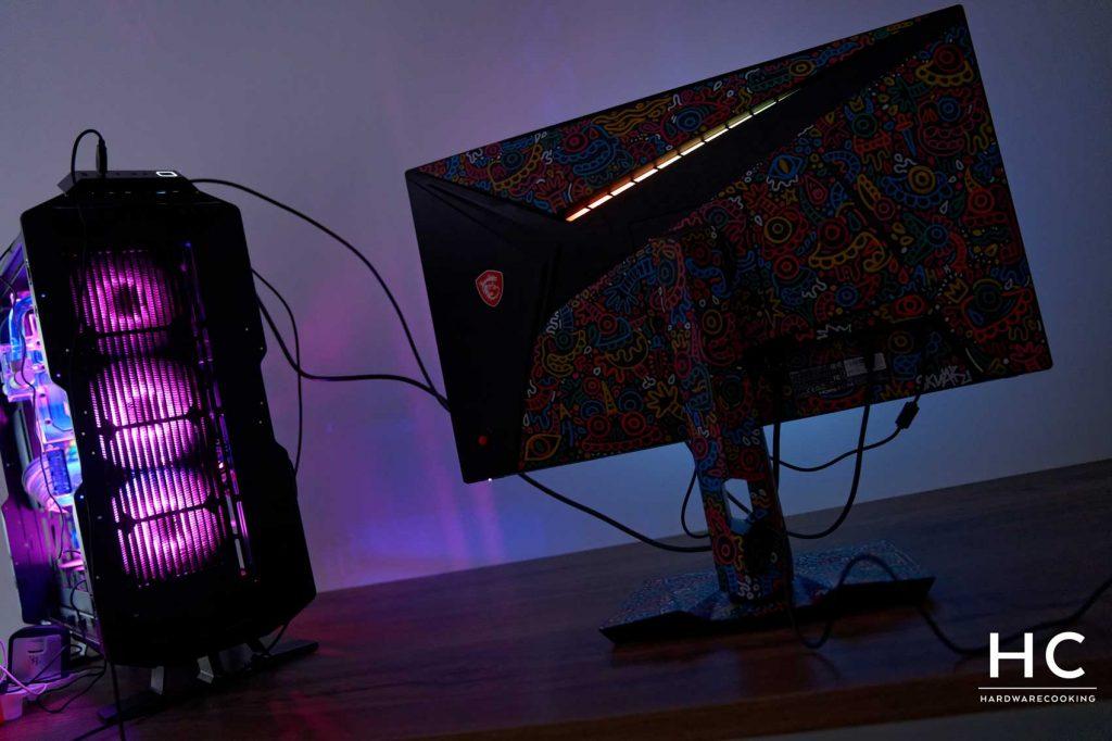 éclairage RGB MSI Optix MAG274QRF-QD