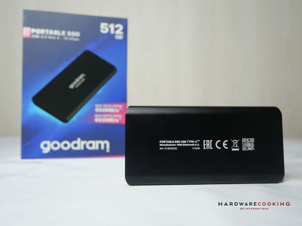Arrière du SSD externe HX100