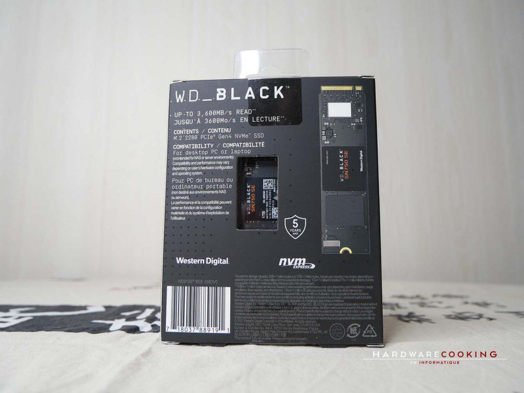 boîte SSD WD_BLACK SN750 SE