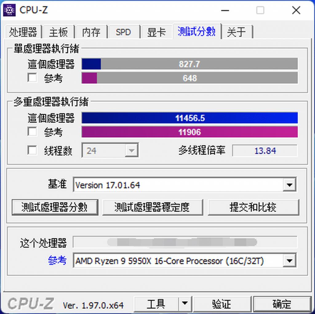 Test Intel Core i9-12900K CPU-Z benchmark